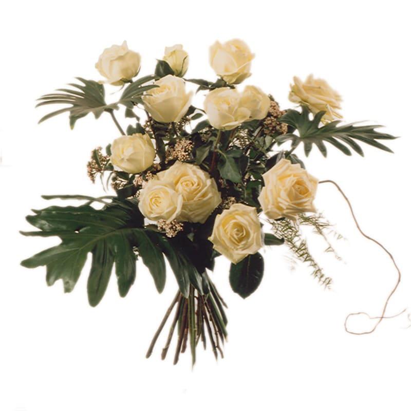 12 Weisse Rosen